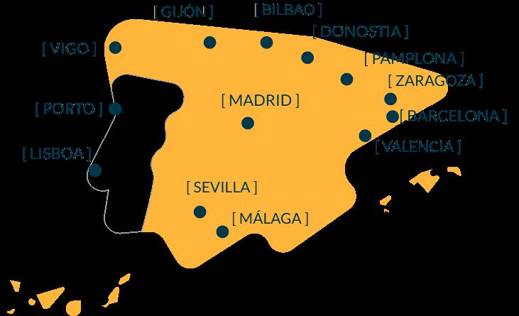 mapa sedes Epidor TD