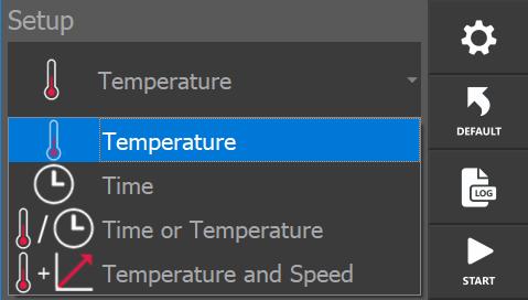 Gran facilidad para seleccionar los distintos modos de calentamiento a través de la pantalla táctil.