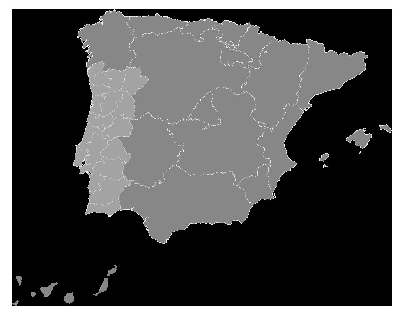 Mapa de distribución EPIDOR en España y Portugal
