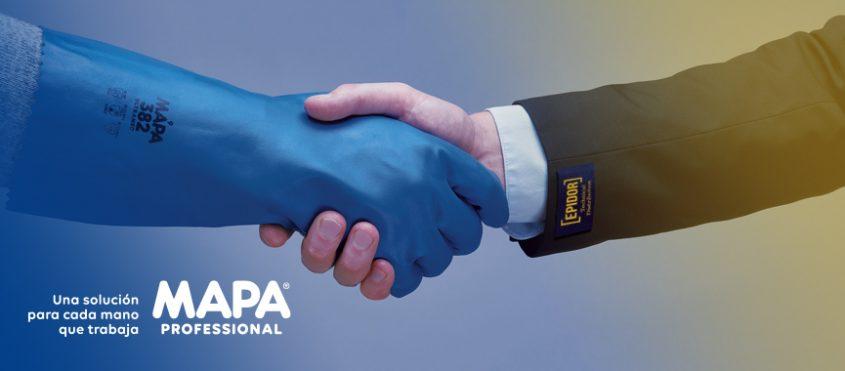Estrechamiento de manos que ilustra la cooperación entre Epidor y Mapa